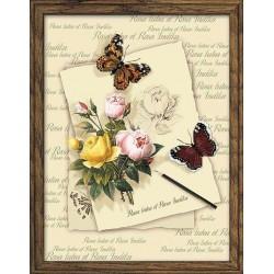 Riolis  kit Butterflies and Roses   Riolis  PT0001   Broderie du monde