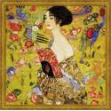 Femme  à  l'éventail  d'après  Klimt  1226  Riolis