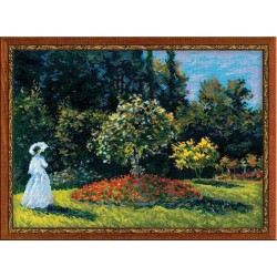 Riolis  kit Woman in the Garden | Riolis 1225 | Broderie du monde