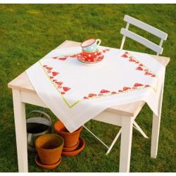 Nappe  de  table  Champignons  Mouche  Agarics  0013284  Vervaco