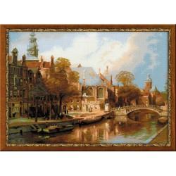 Riolis  kit Amsterdam, The Old Church | Riolis 1189 | Broderie du monde