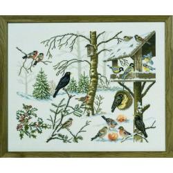 Les  Oiseaux  en  hiver  12-651  Eva Rosenstand
