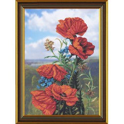 Nova Sloboda  kit Poppy Flowers  Nova Sloboda  CP 1043 | Broderie du monde