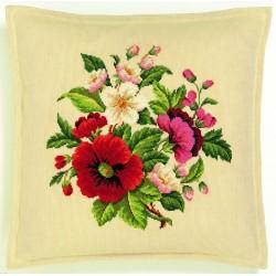 Coussin  ou  Tableau  Bouquet  de  Fleurs  42-360  Eva Rosenstand