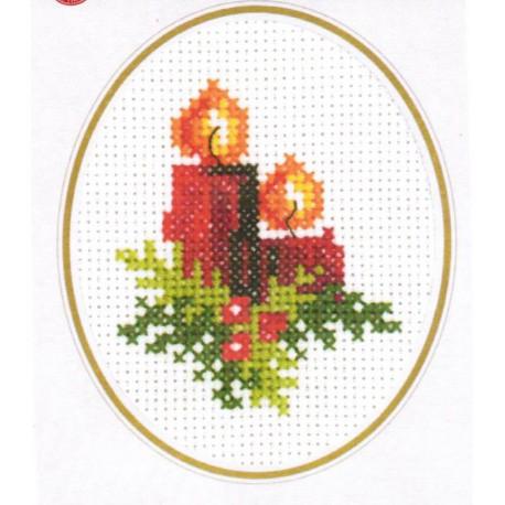Carte  et  Enveloppe  Voeux  de  Noel  17-8271  Permin
