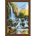 Riolis  1194  Landscape with Waterfall
