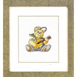 Ourson  à  la  Guitare  12-1490  Permin
