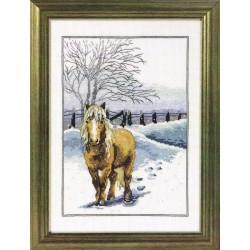 Cheval  d'hiver  12-3337  Aïda  Permin