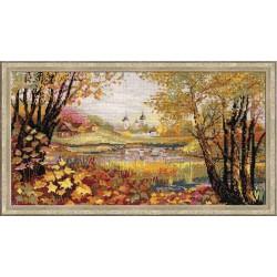 Riolis  kit Autumn Time   Riolis 1233   Broderie du monde