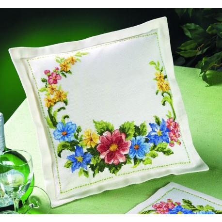 Coussin  Fleurs  de  printemps  83-2129  Permin