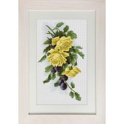 Roses  jaunes  et  Prunes  B2230  Luca-S