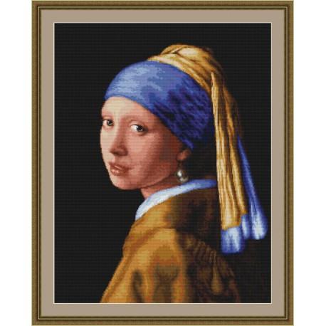 La  jeune  fille  à  la  perle  d'après  J.Vanmeer  B467  Luca-S