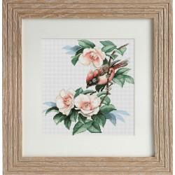 Oiseau  sur  une  branche  fleurie  B299  Luca-S