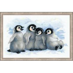 Riolis  kit Funny Penguins | Riolis 1323 | Broderie du monde