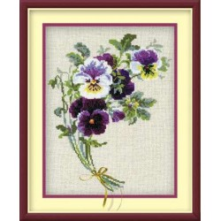 Riolis  kit Bunch of Pansies | Riolis 1020 | Broderie du monde