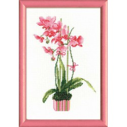 Riolis  kit Pink Orchid | Riolis 1162 | Broderie du monde