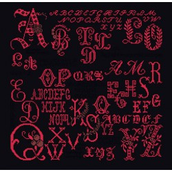 Antique Character Sampler  2093-05  Aïda  noir  Thea Gouverneur