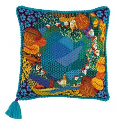 Riolis  kit Dreamland Cushion | Riolis  1426 | Broderie du monde