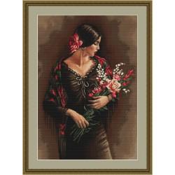 Espagnole  avec  bouquet  B473  Luca-S