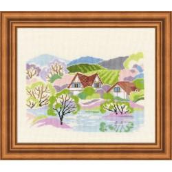 Riolis  kit Springtime | Riolis 1193 | Broderie du monde