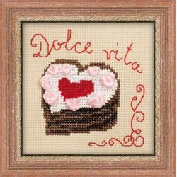 Riolis  kit Gâteau Coeur | Riolis 1253 | Broderie du monde