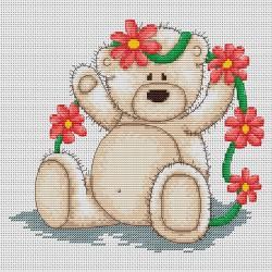 Bianca  avec  fleurs   B1014  Luca-S