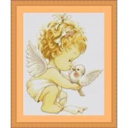 Angelot  avec  Pigeon  B369  Luca-S