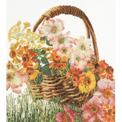 Flower Basket 3064  Thea Gouverneur  Kit point compté  Lin 14 fils