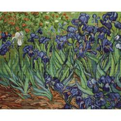 Les  Iris  d'après  V. Van Gogh  B444  Luca-S