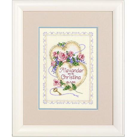 Registre  de  mariage  Cœurs  unis  06730  Dimensions