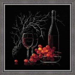 Riolis  kit Nature morte au vin rouge | Riolis 1239 | Broderie du monde
