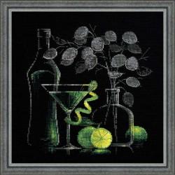 Riolis  kit Nature morte avec Martini | Riolis 1240 | Broderie du monde