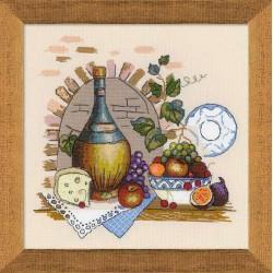 Riolis  kit Nature morte avec du fromage | Riolis 1303 | Broderie du monde