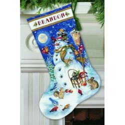 Chaussette  Bonhomme  de  neige  et  amis  70-08839  Dimensions
