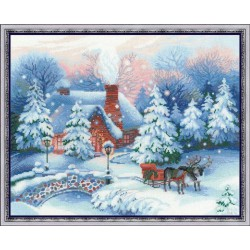 Réveillon de Noël  100/041  Riolis  Broderie  Point de croix compté