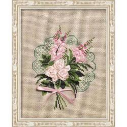 Riolis  kit Bouquet de Tendresse | Riolis 1073 | Broderie du monde