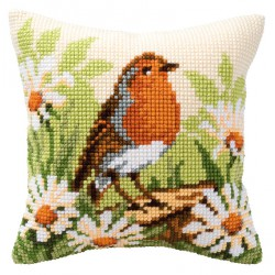Coussin  Rouge-gorge  0008480  Vervaco