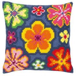 Coussin  Fleurs  stylisées  0008496  Vervaco