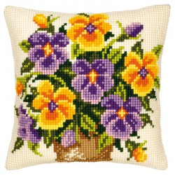 Coussin  Violettes  0008547  Vervaco