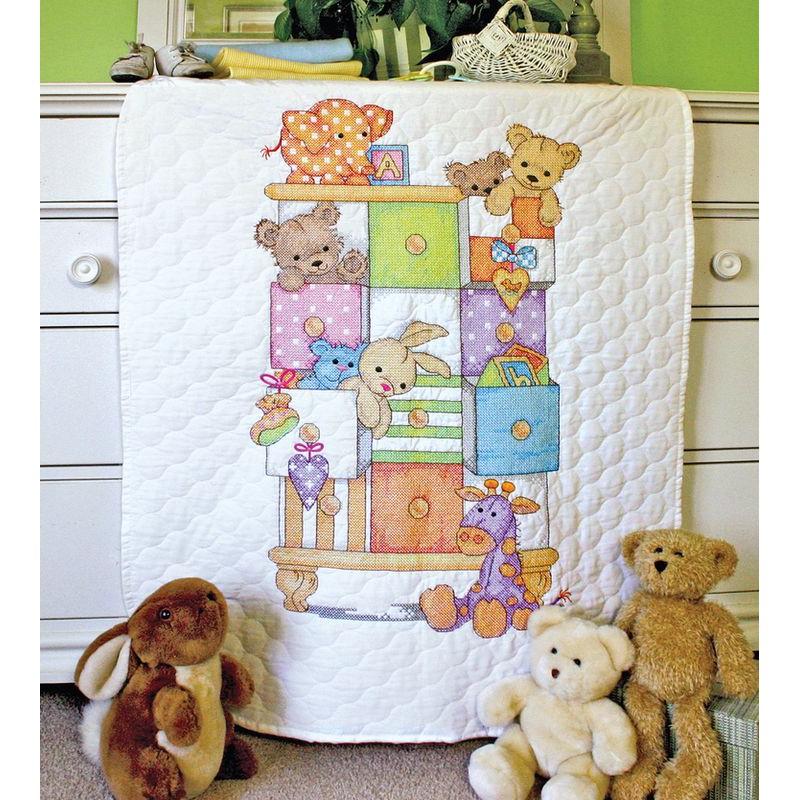 point de croix couverture bébé Dimensions   Couverture piquée Tiroirs à bébé 73537   Point de  point de croix couverture bébé