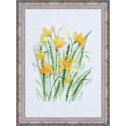 Riolis  kit Narcisse de printemps   Riolis 1180   Broderie du monde