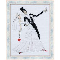Riolis  kit Valse de mariage | Riolis 1178 | Broderie du monde