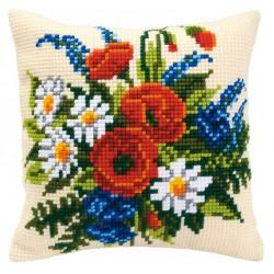 Vervaco  Coussin  Bouquet  de  Coquelicots  0008549