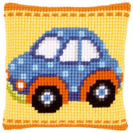 Coussin  Voiture  bleue  0147585  Vervaco