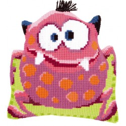 Coussin  Petit  monstre  rose I  0149885  Vervaco