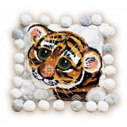 Riolis  kit Coussin Tigre | Riolis  1035 | Broderie du monde