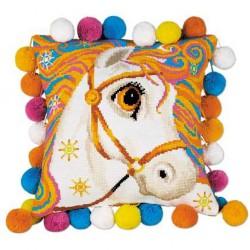 Riolis  kit Coussin Goldrinn cheval | Riolis  1380 | Broderie du monde
