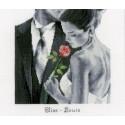 Kit point compté  Rose de l'amour 0150602  Vervaco