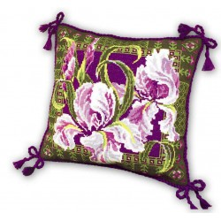 Riolis  kit Coussin iris | Riolis  657 | Broderie du monde