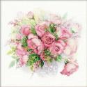 Kit point compté  Aquarelle de roses 1335  Riolis